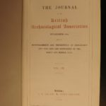 1846 British Archaeology Journal Illustrated English Medieval Knights Coins +