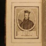 1751 1ed JESUITS Lives Illustrated Folio Portraits St Ignatius Loyola Catholic