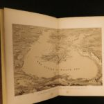 1855 1st ed Sevastopol Crimean War MAP Turkey Constantinople McCormick Visit