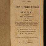 1844 Early Catholics in Kentucky Pioneer Americana Louisville Bardstown KY