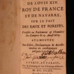 1693 Fishing Hunting LAW Ordinances of King Louis XIV Salt Taxes Tariffs France
