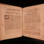 1769 Naples ed VIRGIL Bucolics Georgics Mythology Latin Rural Poetry 2v Set