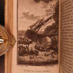 1784 Robinson Crusoe Daniel Defoe Voyages Illustrated MAP Shipwreck 4v French