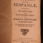 1659 Monarchia Hispania Geography of Spain & Portugal Illustrated DUTCH Zeiller