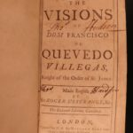1715 Quevedo Visions Occult GHOSTS Spanish Fantasy Dreams Demons Hell English