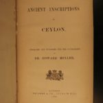 1883 Ancient Ceylon Inscriptions Sinhalese Language Sri Lanka BUDDHISM India