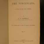 1858 1st ed The Virginians Makepeace Thackeray American Revolution Pendennis