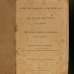 1845 1ed John C Fremont California Explorations GOLD Native American Indians