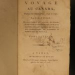 1799-1800 1st ed Isaac Weld Travels US & Canada Illustrated SLAVERY Indians