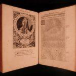 1646 HUGE FOLIO History of FRANCE Legends Saint Louis IX Portraits Mezeray