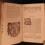 1602 Claudius Aelianus Varia Historia Greco-Roman History Mythology Fishing Art