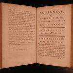 1797 Voyages of Pausanias GREECE Greek Philosophy Illustrated MAPS 4v French