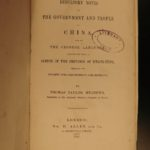 1847 1st ed Desultory Notes on CHINA Chinese & Mandarin Language Pekin Meadows