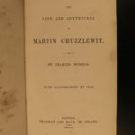 1844 1st/1st Martin Chuzzlewit Charles Dickens English Lit Satire Illustrated