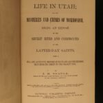 1870 1ed Life in Utah John Beadle anti MORMON Polygamy Latter-Day Saints Rites
