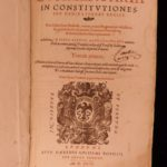 1599 LAW Commentary on Constitutions French Roman Juris Civilis Pierre Rebuffi