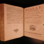 1758 HUGE FOLIO Roman Catholic Missal Mass Music CHANT Vienna Prague Trieste
