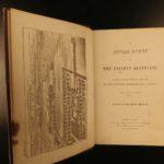 1853 Wilkinson EGYPT Mythology Hieroglyphics Illustrated Egyptian Customs 2v SET