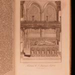 1729 1st FOLIO ed Matthew Parker Antiquitate Britannicae Canterbury Illustrated