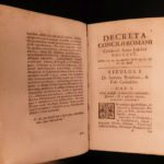 1725 RARE Report on Council of Trent 1st year of Pope Benedict XIII Synod ROME