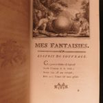 1770 FAMOUS 3rd ed Mes Fantaisies by Claude Dorat Heroic French Poetry BINDING