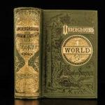 1880 Underground World Knox Pompeii Vesuvius GOLD Mines Geology Earthquakes Beer