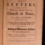 1683 1st ed Anglican George Morley anti-Catholic Treatises Papacy Presbyterian
