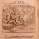 1718 Dutch Joost van den Vondel Gulden Winkel Poetry Illustrated Emblemata RARE