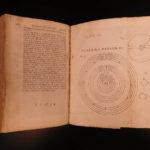 1723 1st ed ENGLISH Physics Isaac NEWTON Illustrated Optics by Rohault & Clarke