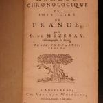 1682 History of France Mezeray Clovis Pharamond Legends Saint Louis IX Portraits