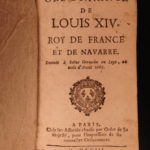 1667 King Louis XIV France LAW Ordinances Versailles Sun King 3v French Crimes