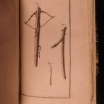 1788 1ed RARE Marolles Chasse au Fusil RIFLE Hunting Crossbows Guns Illustrated