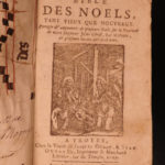 1727 RARE Grand Bible of Noels Christmas Poetry & Hymns Catholic Medieval Manuscript