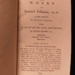 1816 Works of Samuel Johnson w/ FAMOUS Murphy Essay English Biography 12v SET