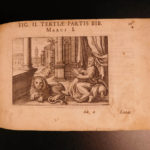 1643 BIBLE Art Iconum Biblicarum Matthaeus Merian Illustrated New Testament