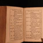 1697 1ed MINIATURE Imitation Christ Thomas a Kempis De Imitation Christi RARE