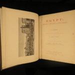 1887 1st English ed EGYPT Illustrated Egyptian Middle East Egyptology 2v Ebers