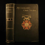 1887 1st ed George McClellan Own Story Union General Civil War Slavery Lincoln