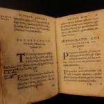 1555 Aphorisms of HIPPOCRATES Greek Medicine Remedies Diseases Surgery Health Very Rare GREEK & Latin Parallel text comp@$2,000