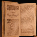 1632 1ed Ubbo Emmius Graecorum Respublicae GREECE Greek Government Elzevier Law