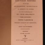 1822 Works of Cornelius Nepos Lives Roman Lawyers Philosophy Rhetoric Delphini