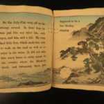 1887 1ed Japanese Fairy Tales Silly Jelly Fish Monkeys Color Illustrated Tokyo