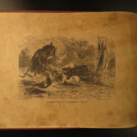 1855 1ed RARE Sportsman's Portfolio American HUNTING Fishing Illustrated Moose