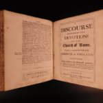 1694 William Sherlock Discourses Concerning Worship Catholic Protestant Pagan 8v