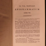 1823 Martial Epigrams Roman Poetry Epigrammaton Corruption in Rome Delphini