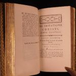 1782 EXQUISITE BINDING Imitation of Christ Thomas a Kempis Catholic Valart