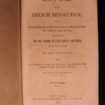 1855 Baines History French Revolution American & British Portraits WARS