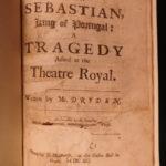1690 1ed John Dryden Don Sebastian English Theater Catholic Controversy Incest