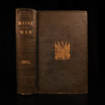 1865 1st ed Maine in Civil War Sgt Savage SOLDIER PROVENANCE Union Tactics