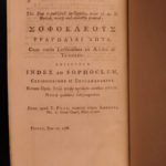1788 EXQUISITE Tragedies of SOPHOCLES Greek & Latin Plays Mythology Oedipus 2v